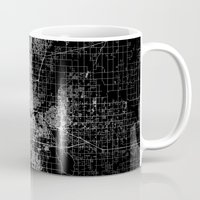 oklahoma Mugs featuring oklahoma city map by Line Line Lines