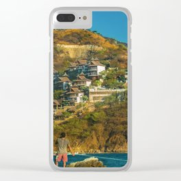 Taganga Town Landscape, Colombia Clear iPhone Case