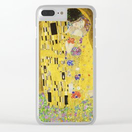 The Kiss - Gustav Klimt, 1907 Clear iPhone Case