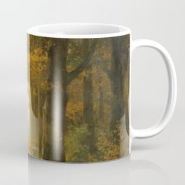 Early Morning Light, Autumn landscape painting by Max Ernst Pietschmann Coffee Mug