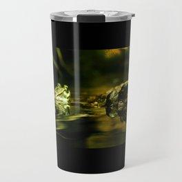 Green Frogs Travel Mug