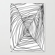 SPIDER WEB BY EDITH BOAM AGE 5 Canvas Print