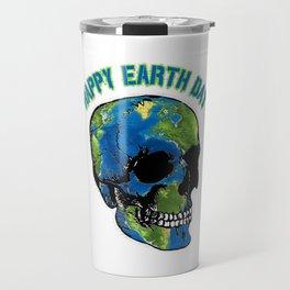 Happy Earth Day Skull T Shirt Travel Mug