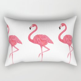 Flamingo tropical dance Rectangular Pillow