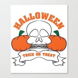 Funny & Cool Halloween Costume Tee Trick or Treat Canvas Print