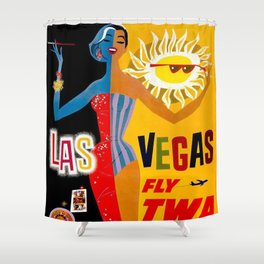 Lady Las Vegas Shower Curtain