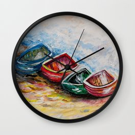 In from the Sea Wall Clock