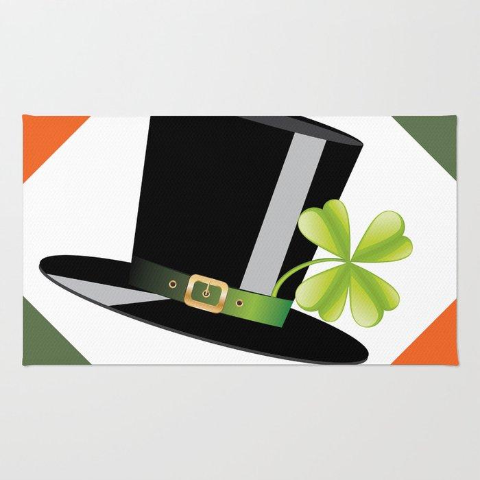 Hat with shamrock Rug