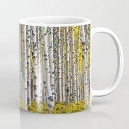 Birch Tree Grove in Autumn Coffee Mug