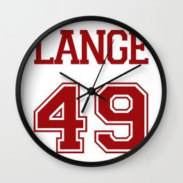 Jessica Lange Varsity Wall Clock