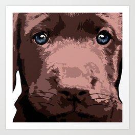 Hot chocolate labrador puppy Art Print