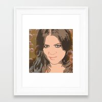 kardashian Framed Art Prints featuring Khloe Kardashian by D Arnold Designs