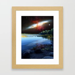 Galaxial Plume in the skies over Itasca State Park Framed Art Print