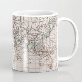 Vintage Map of The World (1856) Coffee Mug