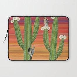 gila woodpeckers on saguaro cactus Laptop Sleeve