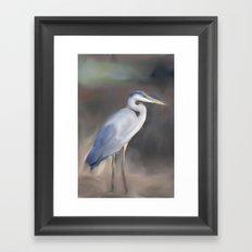 Blue Heron Paining  Framed Art Print