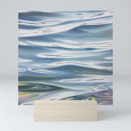 Radiant 1 - lake water painting Mini Art Print