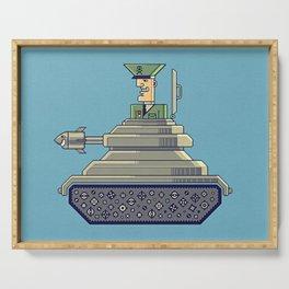 General Mayhem — cartoony vector illustration Serving Tray