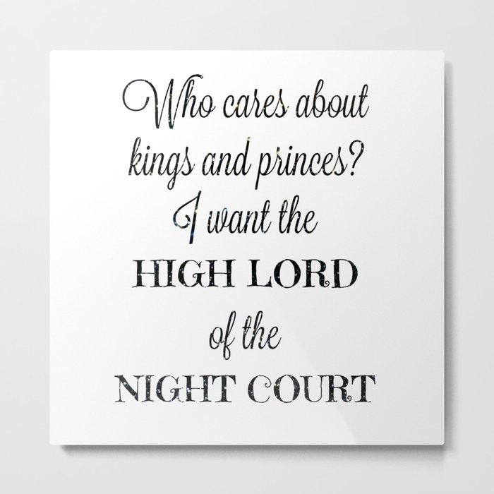 The High Lord Metal Print
