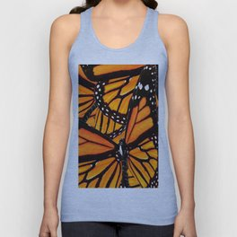 MONARCH BUTTERFLIES WING COLLAGE PATTERN 2 Unisex Tank Top