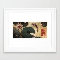 lotus Framed Art Prints featuring Lotus by Corinne Reid