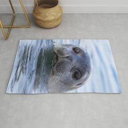 Watercolor Harbor Seal 18, Reykjarfjörður Iceland Rug