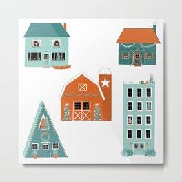Holiday Houses Metal Print