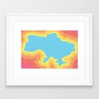 ukraine Framed Art Prints featuring Ukraine by Tasha-Nova