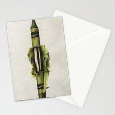 To The Core: Green Stationery Cards