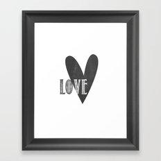 Home, Love, Illustration, Heart,  Framed Art Print