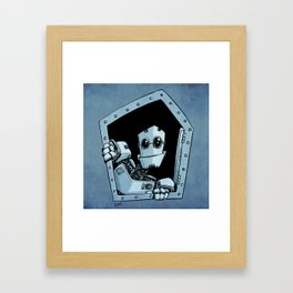 Knock, knock Framed Art Print