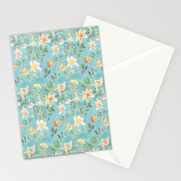 Mint Botanical Pattern Stationery Cards