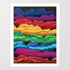 The Badlands Art Print
