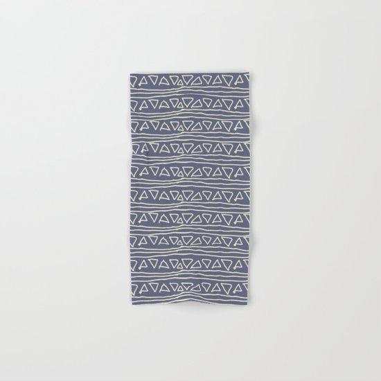 Blue Scribbles Pattern 03 Hand & Bath Towel