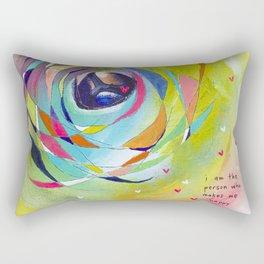Who Makes Me Happy Rectangular Pillow