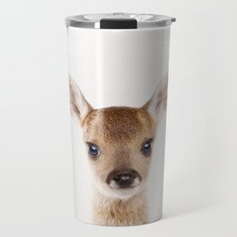 Baby Deer, Baby Animals Art Print By Synplus Travel Mug