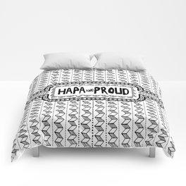 Hapa & Proud - Multicultural - Happa - Eurasian - Black & White Comforters
