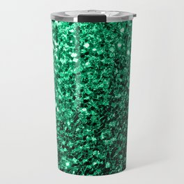 Beautiful Emerald Green glitter sparkles Travel Mug