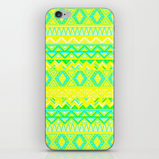India Style Pattern (Neon) iPhone & iPod Skin