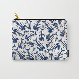 Blue Fish Bones on a Lonely Beach Carry-All Pouch