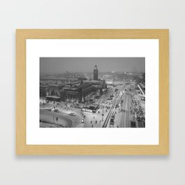 Finland City (Black and White) Framed Art Print