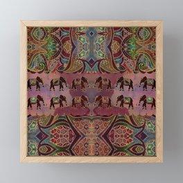Floral Elephants #2 Framed Mini Art Print