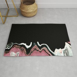 Color Block Rose Marble  Rug