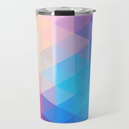 pink  triangles design Travel Mug