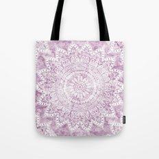 BOHEMIAN FLOWER MANDALA IN PINK Tote Bag