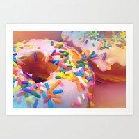 sprinkles Art Prints featuring Sprinkles by ShannonPosedenti