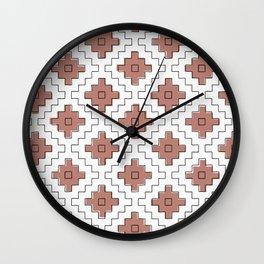 sashiko terra cotta Wall Clock