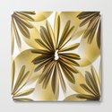Origami Flowers Golden Tones #decor #society6 #buyart by pivivikstrm
