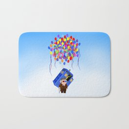 Cute Old 10th doctor who with flaying tardis iPhone 4 4s 5 5c 6, pillow case, mugs and tshirt Bath Mat