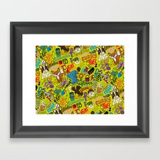 F Pattern Framed Art Print
